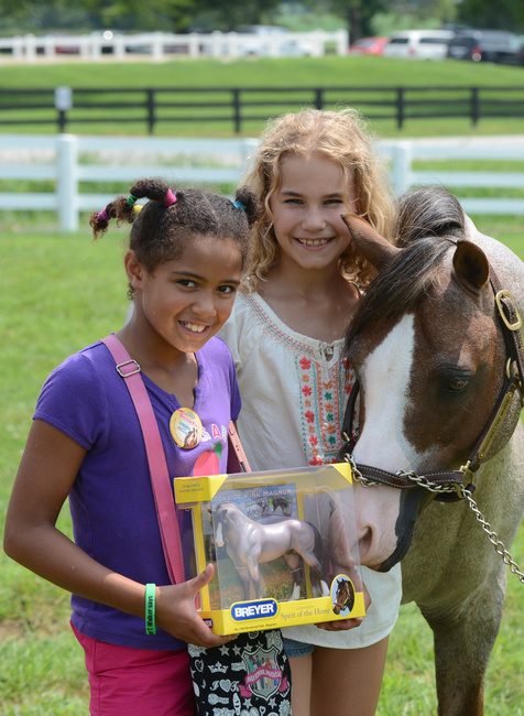 Brookside Pink Magnum and fans at Breyerfest. (Photo courtesy of Breyer)